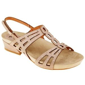 Earthies Tica Suede Sandal Dusty Rose Comfort 10
